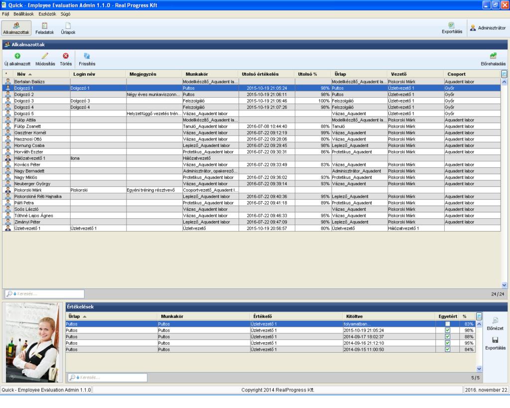 Szervezetfejlesztés szoftverrel - QuickEE
